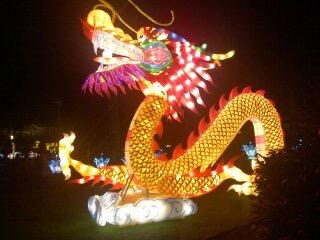 China Lights winter 2014-15 prachtig licht spektakel - draak
