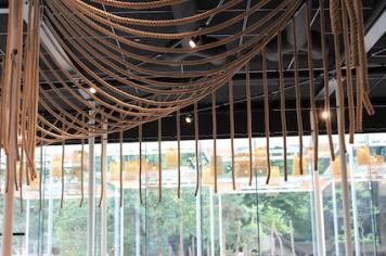 Zelfservice restaurant. Nature design.