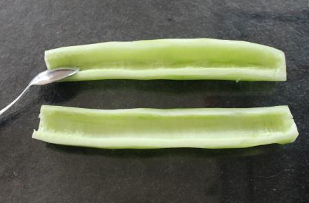 eerst de komkommer