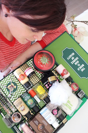 1 jaar sprinkels en kaneel - mei - advent aftel kalender the body shop - cadeautjes
