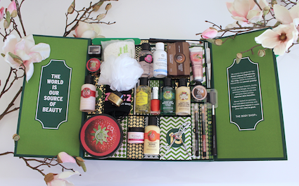 1 jaar sprinkels en kaneel - unboxing advent aftel kalender the body shop - na