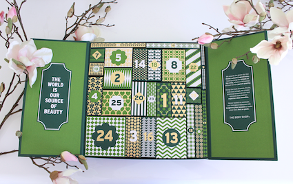 1 jaar sprinkels en kaneel - unboxing advent aftel kalender the body shop - voor