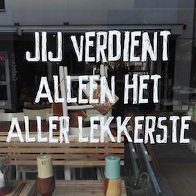 bezienswaardigheden tilburg - stadswandeling - vitrine quote - jij verdient lekkerste