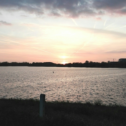wandel update - wandeling galgenweel linkeroever - zonsondergang