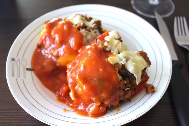 zuiders gevulde paprika met quinoa - lekker healthy koken voor gans gezin