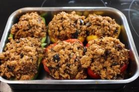 zuiders gevulde paprika met quinoa - paprika vullen