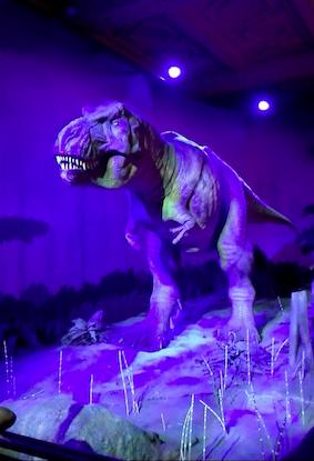 briezen en brullen kan ie als de beste -deze t-rex steelt de show
