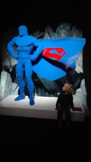 Expo 'The art of the bricks - superman groot en klein