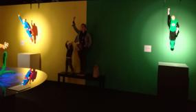 Expo 'The art of the bricks - superman superkid supermom en green lantern
