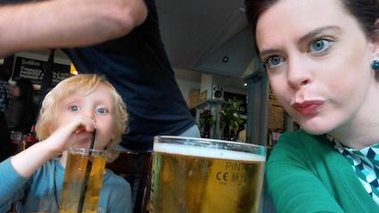 londen pub food - appelsap met en zonder bubbels