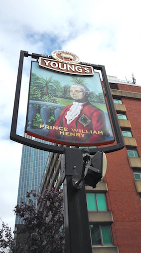 Londen pub prins william henry