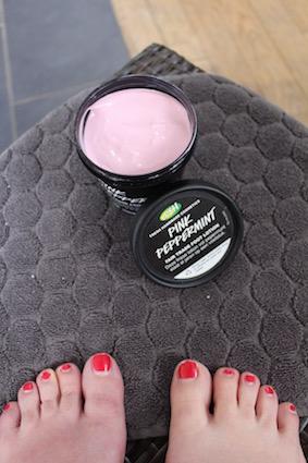 Lush voetcare - Pink peppermint voetcrème