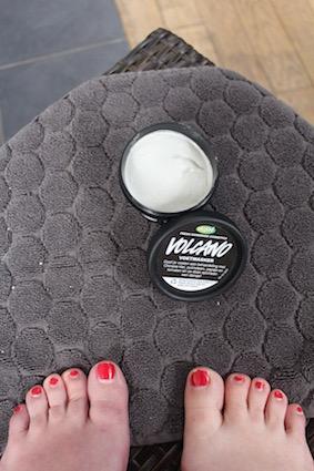 Lush voetcare -volcano voetmasker