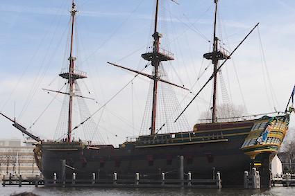 Ahoi driemaster - groetjes vanop de Amsterdamse grachten - canal cruise