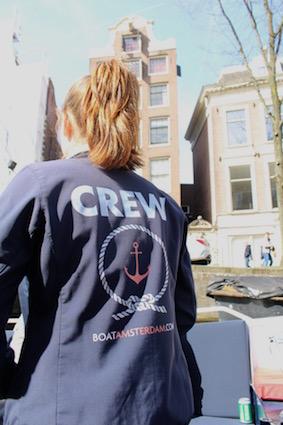 crew - groetjes vanop de Amsterdamse grachten - canal cruise