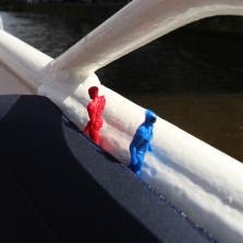 go go power rangers - groetjes vanop de Amsterdamse grachten - canal cruise