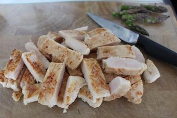 snij de bofrost kippenhaasjes in reepjes