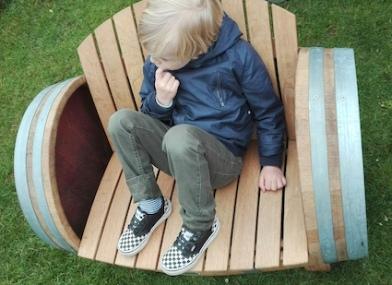 Tuindagen Beervelde - wijnvat om te zitten